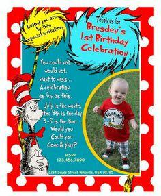 LOVE this Dr suess birthday invite... so cute