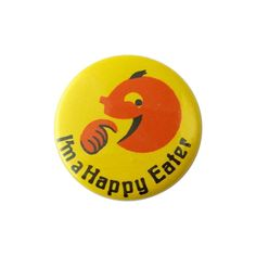 1980s Happy Eater Pop Art Badge
