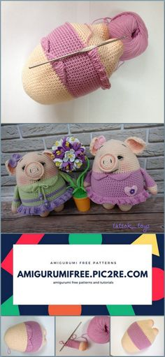 A wonderful pattern that belongs to Tatsok_toys. I hope you like the Amigurumi Mini Pigs patterns. You can visit our website for beautiful patterns from each other. Crochet Elephant Pattern Free, Crochet Animal Patterns, Stuffed Animal Patterns, Crochet Patterns Amigurumi, Crochet Dolls, Crochet Animals, Stuffed Animals, Cute Crochet, Crochet Crafts