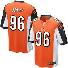 Nike Limited Carlos Dunlap Orange Youth Jersey - Cincinnati Bengals #96 NFL Alternate