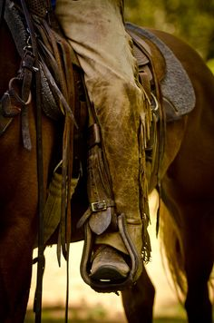 I rode in wooden stirrups and the dust raised by my pony was smoke from my alter offered up to God above......