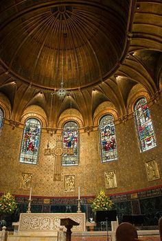 Inside Trinity Church - Boston, Massachusetts