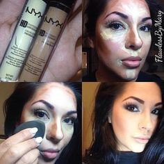 Simple Highlight & Contouring using Nyx #howto #beautytips #flawlessmakeup