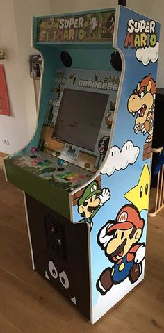 Tips To Build Modern Bar Cabinet Designs For Home Mini Arcade, Retro Arcade, Vintage Video Games, Retro Video Games, Arcade Bartop, Deco Gamer, Arcade Room, Geek Games, Arcade Machine