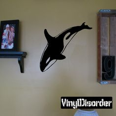 Whale Wall Decal - Vinyl Decal - Car Decal - DC006