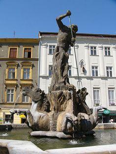 Neptune in Olomouc, Czech Republic. - greek-mythology