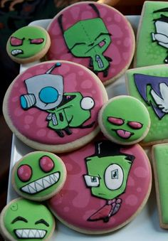 Invader Zim cookies!! I need these for my birthday or something