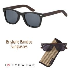 cae5a837965 Meet our eco-friendly Brisbane Sunglasses with bamboo temples! Available in  tortoise (as shown) and black