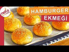 Evde Hamburger Ekmeği Tarifi - Tüm Aşamaları ile 🍔 - YouTube Waffles, Food And Drink, Bread, Cooking, Recipes, Youtube, Cooking Recipes, Koken, Kitchen