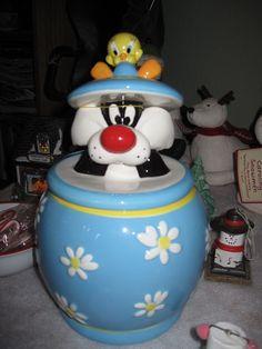 tweety bird cookie jar | Sylvester and tweety bird cookie jar