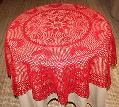 Floral Tablecloth, Crochet Tablecloth, Crochet Doilies, Mantel Redondo, Tablecloths, Decor, Crochet Round, Line, Towels