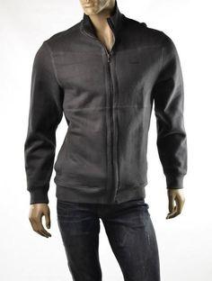 Calvin Klein Jacket Mens Polar Fleece Sweatshirt Gray Size L Track Coat NEW #CalvinKlein #FleeceJacket
