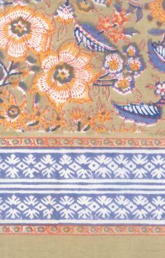 hand-block printed cotton by Anokhi Pattern Art, Print Patterns, Pattern Designs, Pattern Ideas, Ethnic Print, Border Print, Japanese Prints, All Print, Textile Design