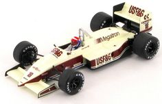 Model of the Arrows Megatron as raced in the 1987 Monaco Grand Prix by Eddie Cheever. Monaco Grand Prix, Indy Cars, Car Ins, Arrows, Scale Models, F1, Diecast, Race Cars, Racing
