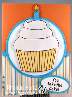 CUPCAKE KEEPER SET   Made by Art Impressions Rubber Stamps. Can be purchased in a Set or individually. The Items can be purchased in my ebay Store Pat's Rubber Stamps & Scrapbooks or call me 423-357-4334 with order, or come by 1327 Glenmar Ave. Mt Carmel, TN 37645, Pat's Rubber Stamps & Scrapbook supplies 423-357-4334. We take PayPal. You get free shipping with the phone orders of $30.00 or more