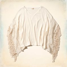 Arch Bay Poncho Hollister One size Color: shown in cream Price: $25