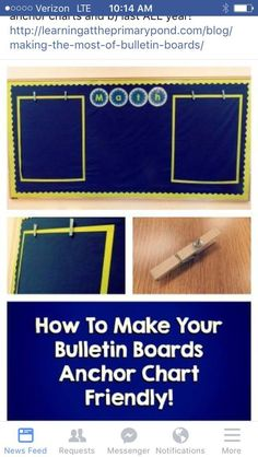 Make your bulletin boards anchor chart friendly