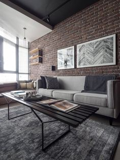 My first home. A take on a contemporary-industrial theme. : malelivingspace