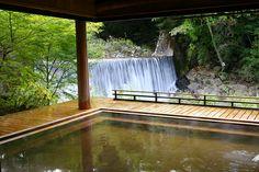 [公式]群馬県温泉旅館 - かやぶきの郷薬師温泉 旅籠|温泉|滝見乃湯