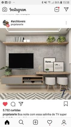 New Living Room Tv Wall Decor Ideas Budget Ideas Living Room Tv Unit, Home Living Room, Interior Design Living Room, Living Room Designs, Living Room Ideas Tv Wall, Apartment Living, Small Living Room Ideas With Tv, Tv Wall Decor, Apartment Ideas
