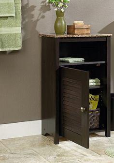 Floor Cabinet Bath Bathroom Towel Storage Doors Furniture Shelves Kitchen Home
