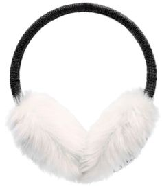 Smile White Dog Snow Picture Winter Earmuffs Ear Warmers Faux Fur Foldable Plush Outdoor Gift