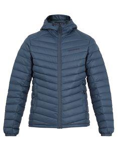 Peak Performance Frost Hooded Down Jacket In Blue