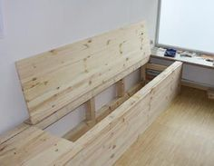 if you need storage space … storage space, pine, seating, wooden bench, seat - DIY Furniture Ideas Bench With Storage, Diy Storage, Storage Spaces, Seat Storage, Wooden Bench Seat, Table Bench, Diy Rangement, Kitchen Benches, Home And Deco