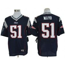 nike jerod mayo jersey elite team color blue new england patriots 51