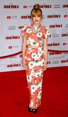 """Bella Thorne arriving at the """"Iron Man 3"""" Los Angeles premiere at the El Capitan Theater in Hollywood, California - April 24, 2013 - Photo: Runway Manhattan/Celebrity Photo"""