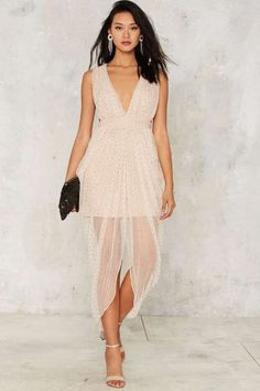 Nasty Gal Collection Diamonte Beaded Dress | Shop Clothes at Nasty Gal!