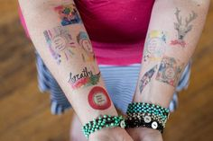 the amazing wise tattoo summer bundle  27 tattoos by silvertreeart, $45.00