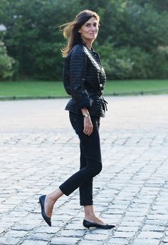 Emanuelle Alt at Paris Fashion Week