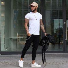 Skinny Jeans Men Slim Fit With Chain Elastic Waist Biker Hip Hop Streetwear Fashion Night, Urban Fashion, Fashion Men, Fashion Edgy, Fashion Photo, Fashion Check, Style Fashion, Work Fashion, Young Fashion