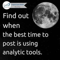 Find out when the best time to post is by using analytic.  #SocialMediaTips