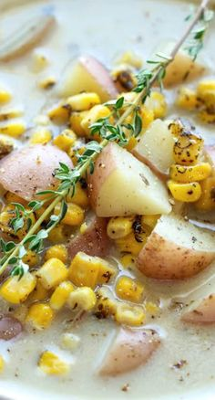 Slow Cooker Potato and Corn Chowder