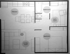 IKEA Small Space Floor Plans: 240, 380, 590 sq ft — My Money Blog