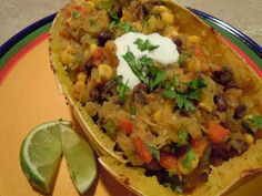 Perfectly Imperfect: Spicy Spaghetti Squash with Black Beans
