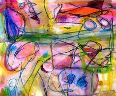 "Saatchi Online Artist: Kaya Hyslop; Paint, 2011, Mixed Media ""Intermission"""