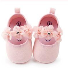 Newborn Baby Boy Girl Floral Soft Crib Shoes Infant Pré Marche Baskets 0-12 m