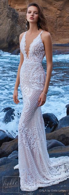 Ready for some impossibly beautiful bridal gowns? GALA by Galia Lahav Wedding Dress Collection has it all. This is one stunning bridal collection that's guaranteed to take your breath away! Wedding Dresses With Straps, Dream Wedding Dresses, Designer Wedding Dresses, Bridal Dresses, Bridesmaid Dresses, Dresses Uk, Prom Dresses, Gorgeous Wedding Dress, Beautiful Gowns