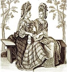 In 1680 the Duchess de Fontanges, having her hat blown off at a royal hunting party, tied her curls in place with her garter, arranging a bow with ends in front. From that incident a new fashion evolved—a cap of tier of upstanding wired and pleated ruffles of lawn, lace, and ribbons. The hair dressed in that fashion was called coif-fure a la Fontanges, and the cap with its narrow rising front was known as le bonnet a la Fontanges. The cap often had two floating pieces of ribbon or lace in…
