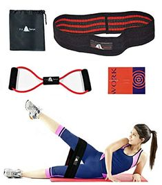 Fitness Hip Resistance Bands for Legs and Butt Exercise, for Glutes and Hips, Comfortable Non-Slip Design Bands Full Body Workout-Free: Toner Band Exercise Cords & Exercise Guide & Carry Bag Glute Bands, Resistance Band Exercises, Cords, Glutes, Full Body, Booty, Legs, Workout, Amazon
