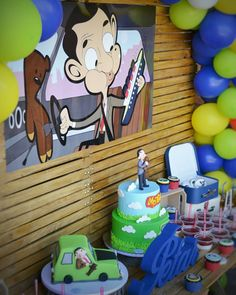 Petar i njegov rodjendanski kutak na temu Mr. Mr Bean Cake, Bean Cakes, Mr Bean Birthday, 2nd Birthday, Megan 4, Mr Bean Cartoon, Mr. Bean, Magic Party, Box Templates