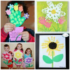 Handprint Flower Craft Ideas for Kids