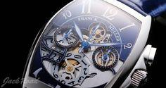 FRANCK MULLER Tonneau Curvex Chronograph Big Date / Ref.8083CCGDFOAC BLUE