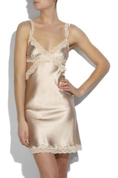 Stella McCartney  Clara Whispering silk-satin chemise  $300