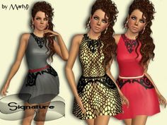 Signature dress by MartyP - Sims 3 Downloads CC Caboodle