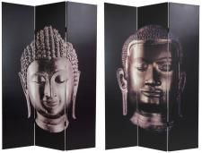 Asian and Zen Theme Decor with photo of Buddha head sculpture