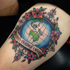 earth planet tattoo